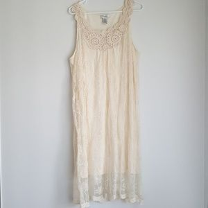 Cream Lace Dress